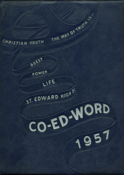 1957 Edition, St Edward High School - Co Ed Word Yearbook (Elgin, IL)