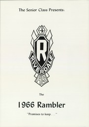 Page 5, 1966 Edition, Riverdale High School - Rambler Yearbook (Port Byron, IL) online yearbook collection