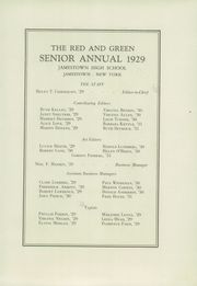 Page 7, 1929 Edition, Jamestown High School - Red and Green Yearbook (Jamestown, NY) online yearbook collection