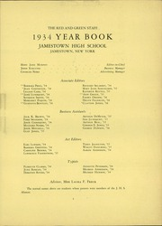 Page 9, 1934 Edition, Jamestown High School - Red and Green Yearbook (Jamestown, NY) online yearbook collection