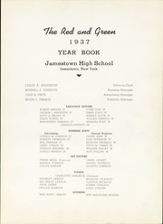 Page 7, 1937 Edition, Jamestown High School - Red and Green Yearbook (Jamestown, NY) online yearbook collection