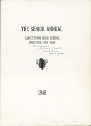 Page 7, 1940 Edition, Jamestown High School - Red and Green Yearbook (Jamestown, NY) online yearbook collection