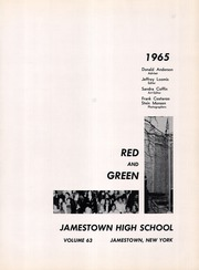 Page 5, 1965 Edition, Jamestown High School - Red and Green Yearbook (Jamestown, NY) online yearbook collection