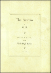 Page 7, 1927 Edition, Aledo High School - Astrum (Aledo, IL) online yearbook collection