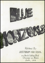 Page 7, 1958 Edition, Josephinum High School - Blue Horizons Yearbook (Chicago, IL) online yearbook collection