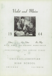 Page 7, 1944 Edition, Chicago Christian High School - Violet and Maize Yearbook (Palos Heights, IL) online yearbook collection