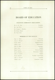 Page 14, 1925 Edition, Staunton High School - Echo Yearbook (Staunton, IL) online yearbook collection