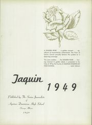Page 5, 1949 Edition, Aquinas Dominican High School - Taquin Yearbook (Chicago, IL) online yearbook collection
