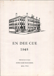 Page 5, 1948 Edition, Notre Dame High School - En Dee Cue Yearbook (Quincy, IL) online yearbook collection