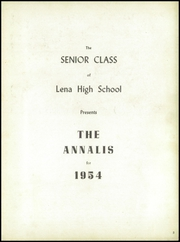 Page 7, 1954 Edition, Lena Winslow High School - Win Nel Yearbook (Lena, IL) online yearbook collection