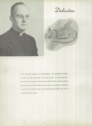 Page 6, 1951 Edition, Marquette High School - Memorare Yearbook (Ottawa, IL) online yearbook collection