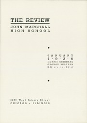 Page 5, 1936 Edition, Marshall High School - Review Yearbook (Chicago, IL) online yearbook collection