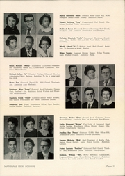 Page 13, 1956 Edition, Marshall High School - Review Yearbook (Chicago, IL) online yearbook collection