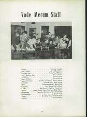 Page 8, 1952 Edition, Villa Grove High School - Vade Mecum Yearbook (Villa Grove, IL) online yearbook collection