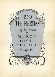 Page 7, 1930 Edition, Mercy High School - Mercian Yearbook (Chicago, IL) online yearbook collection
