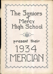 Page 5, 1934 Edition, Mercy High School - Mercian Yearbook (Chicago, IL) online yearbook collection
