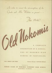 Page 5, 1940 Edition, Nokomis High School - Old Nokomis Yearbook (Nokomis, IL) online yearbook collection