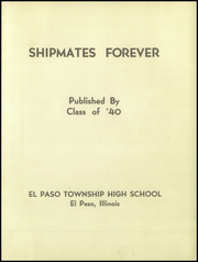 Page 5, 1940 Edition, El Paso High School - Cometeer Yearbook (El Paso, IL) online yearbook collection