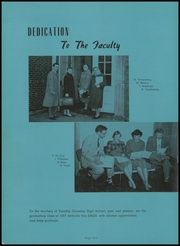 Page 8, 1957 Edition, Timothy Christian High School - Saga Yearbook (Elmhurst, IL) online yearbook collection