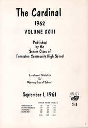 Page 5, 1962 Edition, Forreston High School - Cardinal Yearbook (Forreston, IL) online yearbook collection