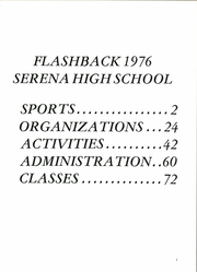 Page 5, 1976 Edition, Serena High School - Flashback Yearbook (Serena, IL) online yearbook collection
