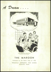 Page 5, 1952 Edition, Princeville High School - Maroon Yearbook (Princeville, IL) online yearbook collection