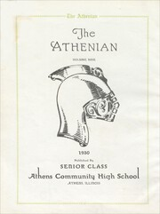 Page 6, 1930 Edition, Athens Community High School - Athenian Yearbook (Athens, IL) online yearbook collection