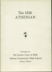 Page 5, 1936 Edition, Athens Community High School - Athenian Yearbook (Athens, IL) online yearbook collection