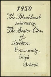 Page 3, 1950 Edition, Stockton High School - Blackhawk Yearbook (Stockton, IL) online yearbook collection