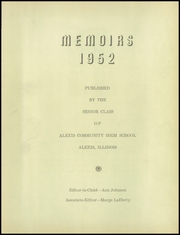 Page 5, 1952 Edition, Alexis High School - Memoirs Yearbook (Alexis, IL) online yearbook collection