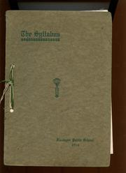 1914 Edition, Flanagan High School - Syllabus Yearbook (Flanagan, IL)