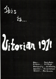 Page 5, 1971 Edition, VIT High School - Vitorian Yearbook (Table Grove, IL) online yearbook collection