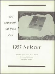 Page 5, 1957 Edition, Chrisman High School - Ne Iocus Yearbook (Chrisman, IL) online yearbook collection