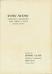 Page 5, 1932 Edition, Windsor High School - Pow Wow Yearbook (Windsor, IL) online yearbook collection