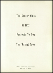 Page 7, 1952 Edition, Walnut High School - Tree Yearbook (Walnut, IL) online yearbook collection