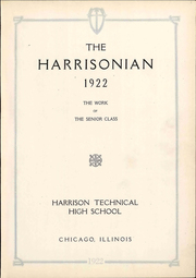 Page 9, 1922 Edition, Harrison Technical High School - Harrisonian Yearbook (Chicago, IL) online yearbook collection