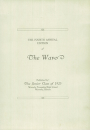 Page 7, 1925 Edition, Waverly High School - Wave Yearbook (Waverly, IL) online yearbook collection