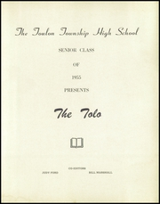 Page 5, 1955 Edition, Toulon Township High School - Tolo Yearbook (Toulon, IL) online yearbook collection