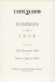 Page 17, 1939 Edition, Homer High School - Homerian Yearbook (Homer, IL) online yearbook collection