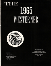 Page 5, 1965 Edition, Western High School - Westerner Yearbook (Buda, IL) online yearbook collection