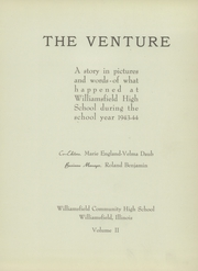 Page 7, 1944 Edition, Williamsfield High School - Venture Yearbook (Williamsfield, IL) online yearbook collection