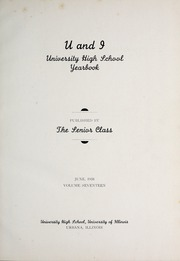 Page 9, 1938 Edition, University of Illinois High School - U and I Yearbook (Urbana, IL) online yearbook collection