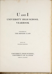 Page 9, 1939 Edition, University of Illinois High School - U and I Yearbook (Urbana, IL) online yearbook collection