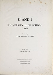 Page 5, 1941 Edition, University of Illinois High School - U and I Yearbook (Urbana, IL) online yearbook collection