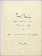 Page 5, 1949 Edition, Gridley High School - Pylon Yearbook (Gridley, IL) online yearbook collection