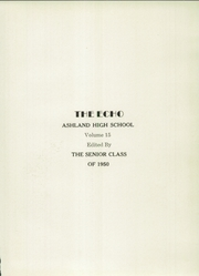 Page 5, 1950 Edition, Ashland High School - Echo Yearbook (Ashland, IL) online yearbook collection