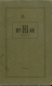1920 Edition, Wyanet High School - Wyhian Yearbook (Wyanet, IL)