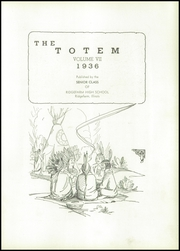 Page 5, 1936 Edition, Ridgefarm High School - Totem Yearbook (Ridge Farm, IL) online yearbook collection