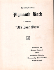 Page 5, 1950 Edition, Plymouth High School - Rock Yearbook (Plymouth, IL) online yearbook collection