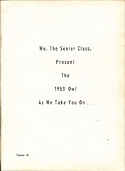 Page 5, 1953 Edition, Moore Township High School - Owl Yearbook (Farmer City, IL) online yearbook collection